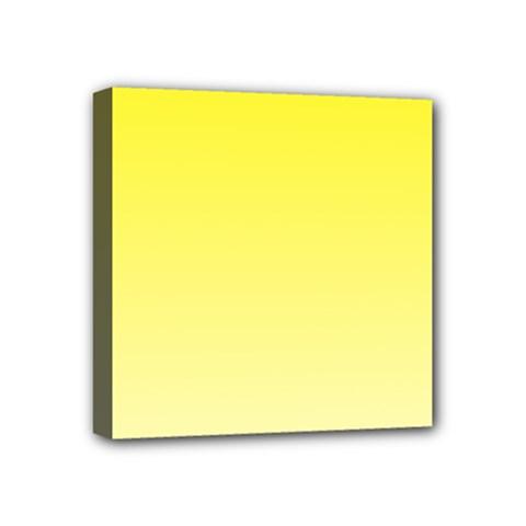 Cadmium Yellow To Cream Gradient Mini Canvas 4  x 4  (Framed)