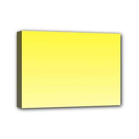 Cadmium Yellow To Cream Gradient Mini Canvas 7  X 5  (framed)