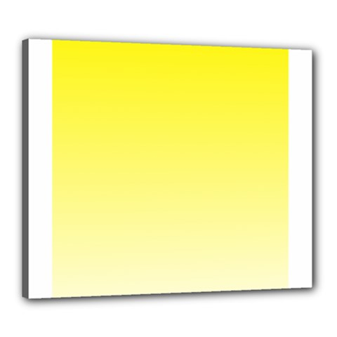 Cadmium Yellow To Cream Gradient Canvas 24  x 20  (Framed)