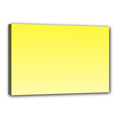 Cadmium Yellow To Cream Gradient Canvas 18  X 12  (framed)