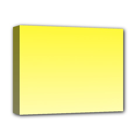Cadmium Yellow To Cream Gradient Deluxe Canvas 14  x 11  (Framed)