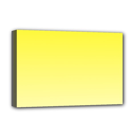 Cadmium Yellow To Cream Gradient Deluxe Canvas 18  x 12  (Framed)