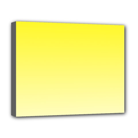 Cadmium Yellow To Cream Gradient Deluxe Canvas 20  x 16  (Framed)