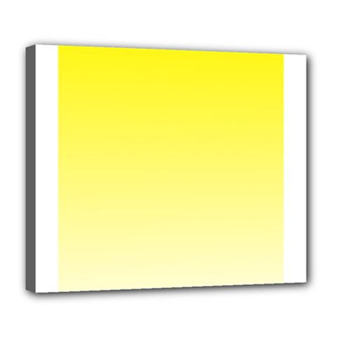 Cadmium Yellow To Cream Gradient Deluxe Canvas 24  x 20  (Framed)