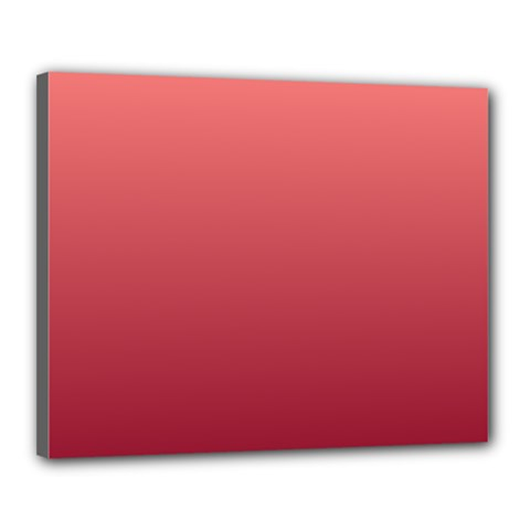 Pastel Red To Burgundy Gradient Canvas 20  X 16  (framed)