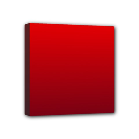 Red To Dark Scarlet Gradient Mini Canvas 4  x 4  (Framed)