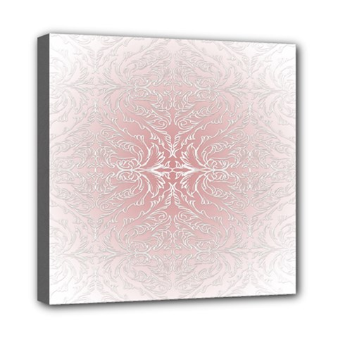 Elegant Damask Mini Canvas 8  x 8  (Framed)