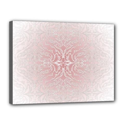 Elegant Damask Canvas 16  X 12  (framed)