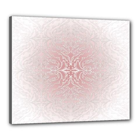Elegant Damask Canvas 24  X 20  (framed)