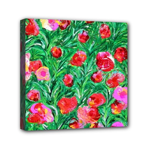 Flower Dreams Mini Canvas 6  x 6  (Framed)