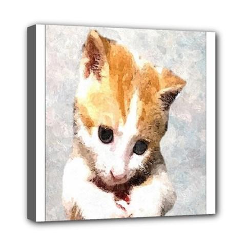Sweet Face :) Mini Canvas 8  X 8  (framed)