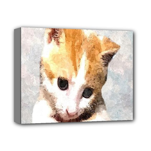 Sweet Face :) Deluxe Canvas 14  x 11  (Framed)