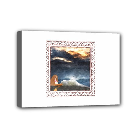 Stormy Twilight [Framed] Mini Canvas 7  x 5  (Framed)