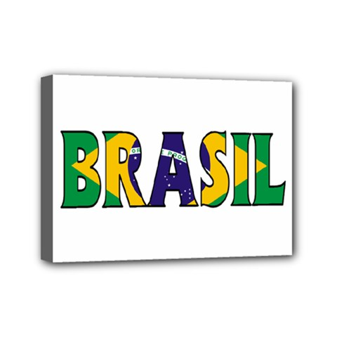 Brazil Mini Canvas 7  x 5  (Framed)