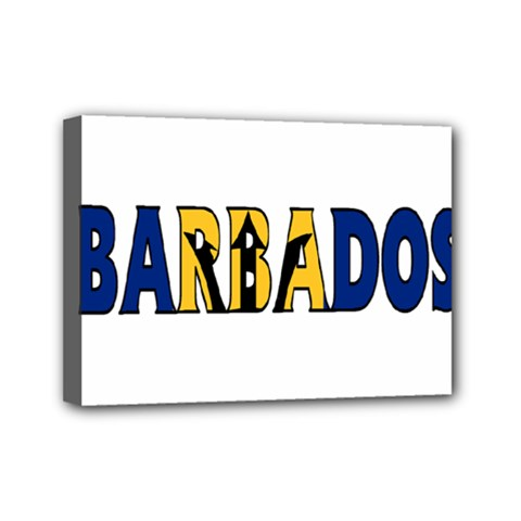 Barbados Mini Canvas 7  X 5  (framed)