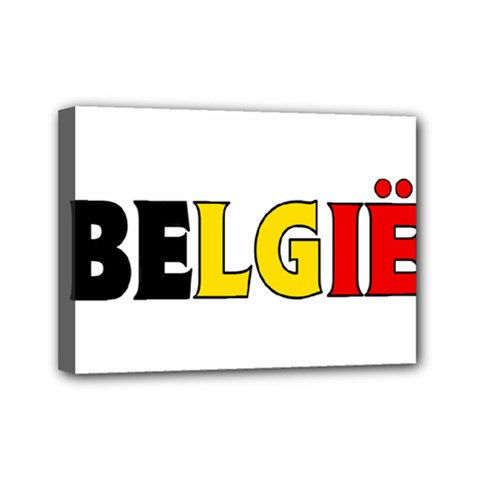 Belgium Mini Canvas 7  X 5  (framed)