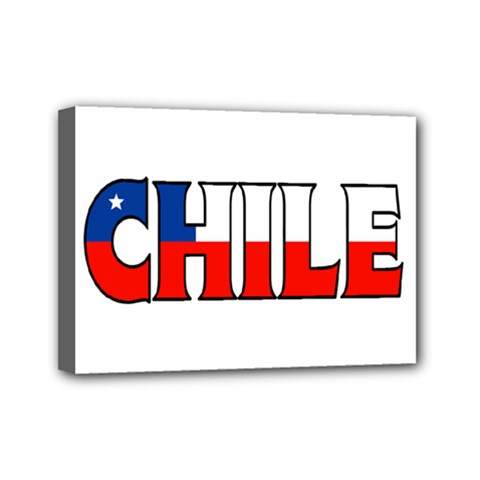 Chile Mini Canvas 7  X 5  (framed)