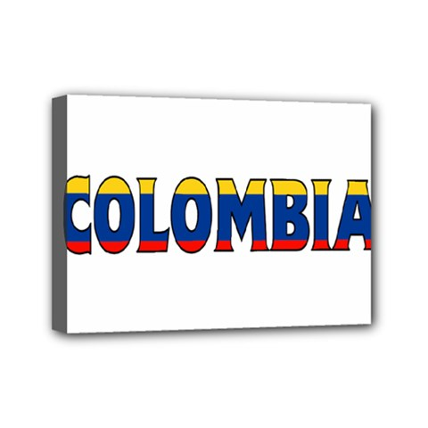 Colombia Mini Canvas 7  x 5  (Framed)