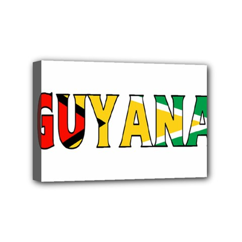 Guyana Mini Canvas 6  X 4  (framed)