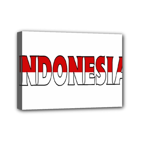 Indonesia Mini Canvas 7  X 5  (framed)