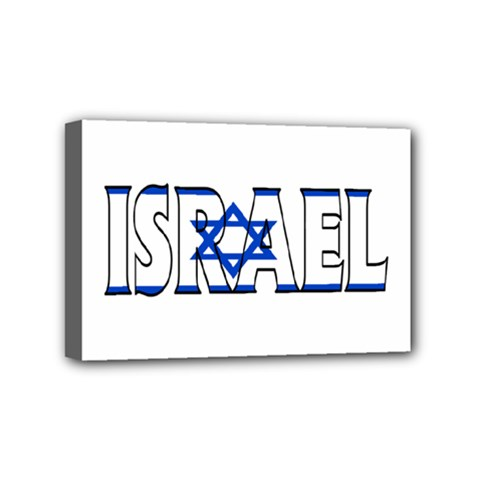 Israel2 Mini Canvas 6  X 4  (framed)