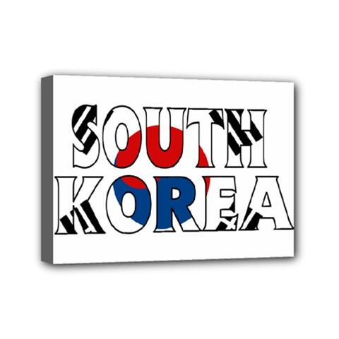 South Korea Mini Canvas 7  x 5  (Framed)