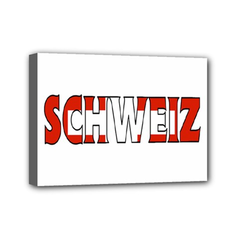 Switzerland 3 Mini Canvas 7  X 5  (framed)