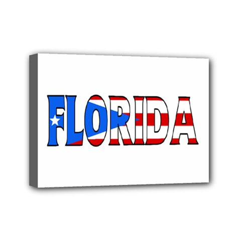 Florida P Rico Mini Canvas 7  x 5  (Framed)