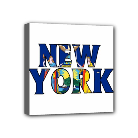 New York Mini Canvas 4  X 4  (framed)