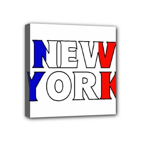 New York France Mini Canvas 4  x 4  (Framed)