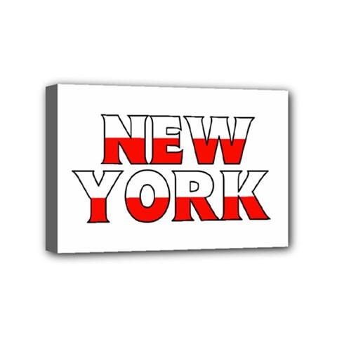 New York Poland Mini Canvas 6  x 4  (Framed)