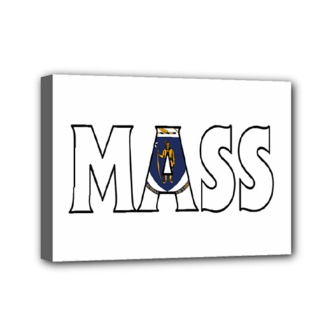 Massachusetts Mini Canvas 7  x 5  (Framed)