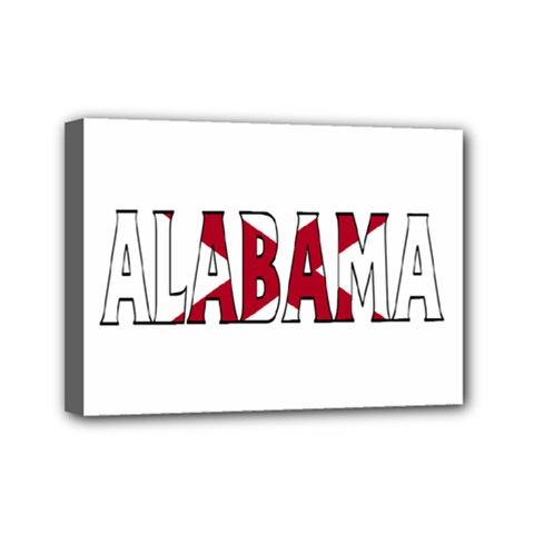 Alabama Mini Canvas 7  X 5  (framed)