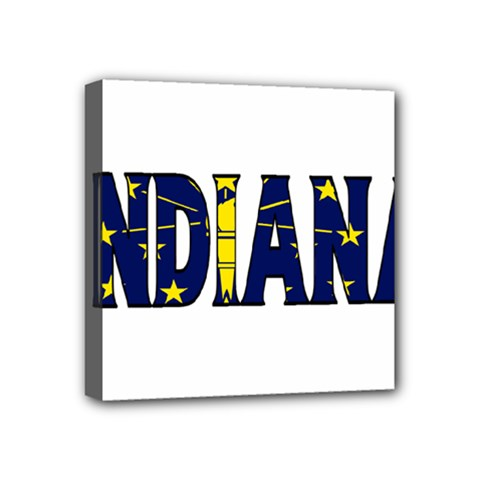 Indiana Mini Canvas 4  x 4  (Framed)
