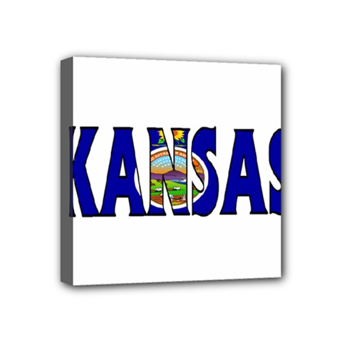 Kansas Mini Canvas 4  x 4  (Framed)