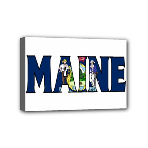 Maine Mini Canvas 6  X 4  (framed)