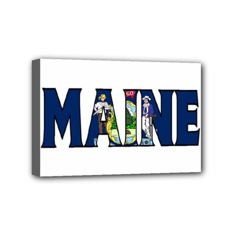 Maine Mini Canvas 6  x 4  (Framed)