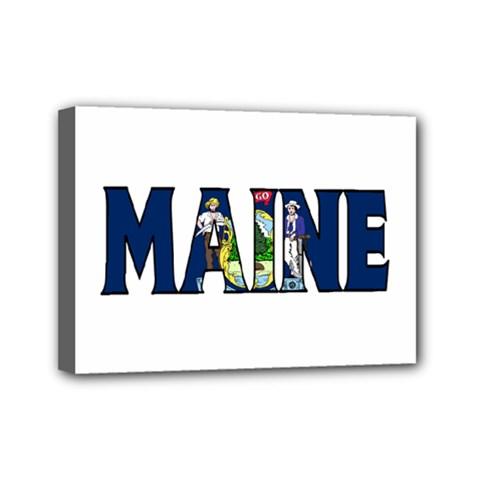 Maine Mini Canvas 7  X 5  (framed)