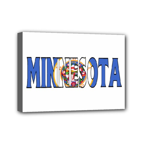 Minnesota Mini Canvas 7  x 5  (Framed)
