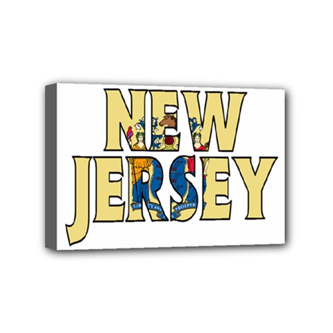 New Jersey Mini Canvas 6  x 4  (Framed)