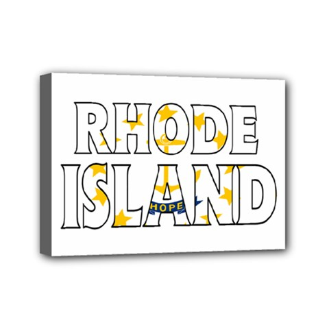 Rhode Island Mini Canvas 7  X 5  (framed)