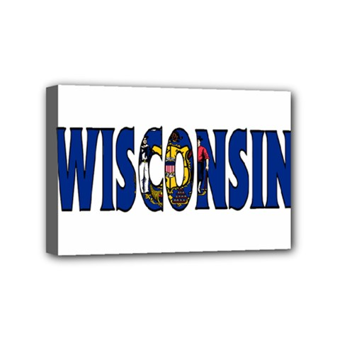 Wisconsin Mini Canvas 6  x 4  (Framed)