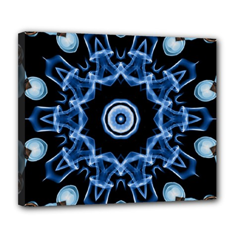 Abstract smoke  (3) Deluxe Canvas 24  x 20  (Framed)