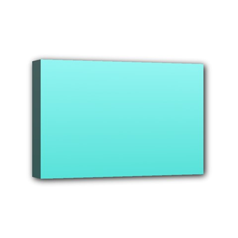 Celeste To Turquoise Gradient Mini Canvas 6  x 4  (Framed)