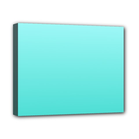 Celeste To Turquoise Gradient Canvas 10  x 8  (Framed)