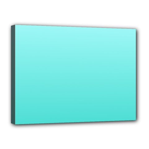 Celeste To Turquoise Gradient Canvas 16  X 12  (framed)