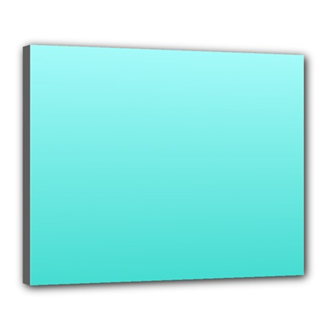 Celeste To Turquoise Gradient Canvas 20  X 16  (framed)