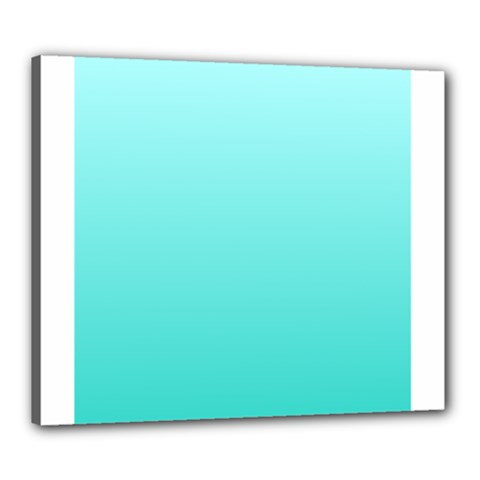 Celeste To Turquoise Gradient Canvas 24  x 20  (Framed)