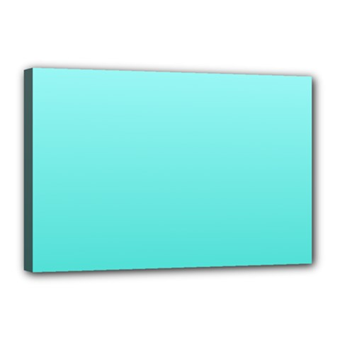 Celeste To Turquoise Gradient Canvas 18  x 12  (Framed)