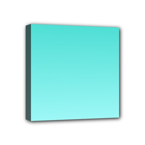 Turquoise To Celeste Gradient Mini Canvas 4  x 4  (Framed)